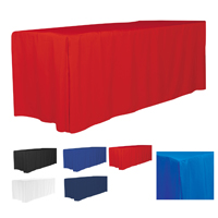 4-Sided Fitted Style Table Covers & Table Throws (Blanks) / Fit 6 Foot Table